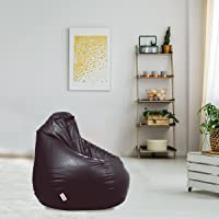 Amazon Brand - Solimo XXXL Bean Bag Cover Without Beans (Brown)
