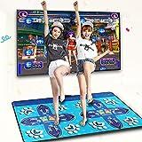 wly&home Alfombras de Baile,Pista de Baile Doble/Pista de Baile Wii/computadora/TV de Doble Uso, Alfombra de Danza y Baile de Alfombra de Baile de pérdida de Peso para Adultos/niños, Blue