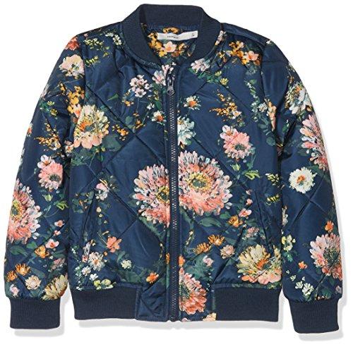 NAME IT Mädchen Jacke Nmfmilt Quilt Bomber Jacket, Blau (Dress Blues Dress Blues), 110