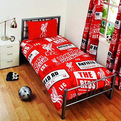 Kinder Offizielles Patch Fußball Wappen Bettwäsche Set/Tröster, Polyester, rot, Volle Größe ()