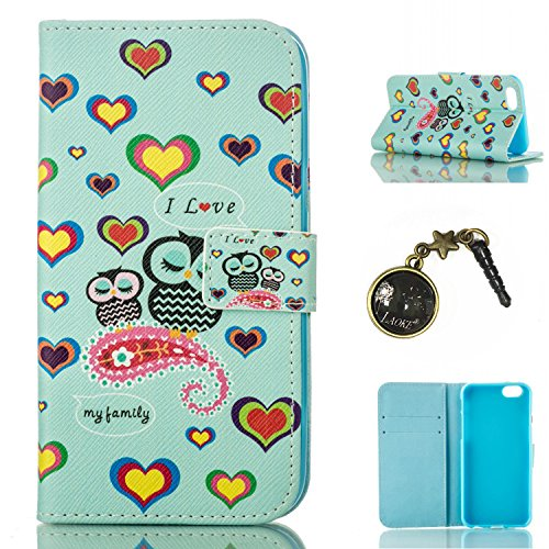 PU für Apple iPhone 6 Plus (5.5 Zoll) Hülle,Geprägte Campanula Handyhülle / Tasche / Cover / Case für das Apple iPhone 6 Plus (5.5 Zoll) iphone 6S Plus PU Leder Flip Cover Leder Hülle Kunstleder Folio 9