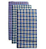 Men's Lungi/Sarong Assorted Color Checks 2.5 Mtr. Pack of 2