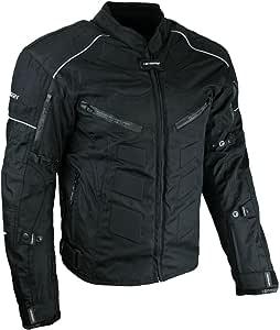 HEYBERRY Kurze Textil Motorrad Jacke Motorradjacke Schwarz Gr. XXL