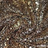 Antik Gold Allover genäht Pailletten Showtime Kleid Dance Stoff 137,2cm 137cm breit–Meterware