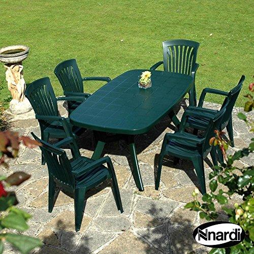 Forest Green Outdoor-stuhl (Nardi 165cm Toscana Uni Tisch mit 6Diana Stuhl Set–Forest Grün)