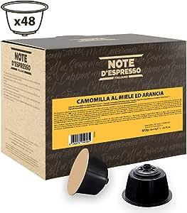 Note D'Espresso Preparato Solubile per Bevanda al Gusto di Camomilla al Miele ed Arancia in capsule esclusivamente compatibili con macchine Nescafé* e Dolce Gusto* 672 g (48 x 14 g)