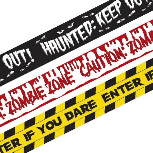 3 banderoles de décorations Halloween - taille - Taille Unique - 227469