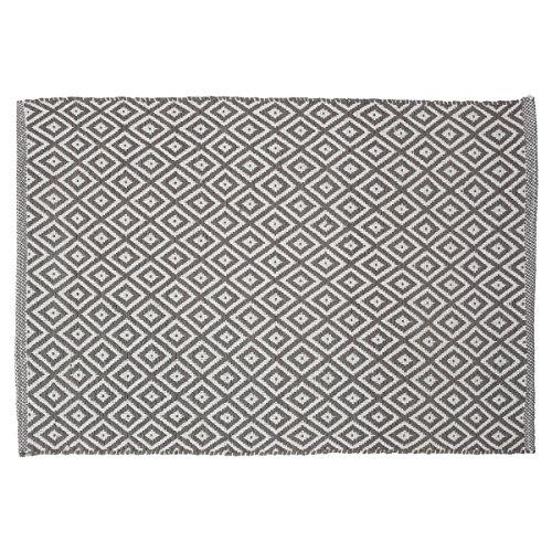 Sealskin Badteppich Trellis, Fabre: Grau, 90 x 60 cm