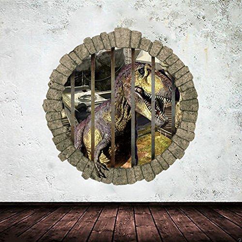 enfants-de-mur-3d-dinosaure-jurassic-park-autocollants-muraux-decoratifs-en-pvc-yuxin