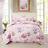 Home Fashion Tencel 4-Morceau de Couette Bedding Set, King/California King,Couette(220cm x 240cm*1),fiche(245cm x 270cm*1),taie d'Oreiller(48*74cm*2),le meilleur festival Don