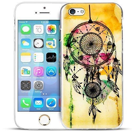 Blitz® EULE OWL Schutz Hülle Transparent TPU Cartoon Comic Case iPhone Smile iPhone 5c Dream Catcher Yellow