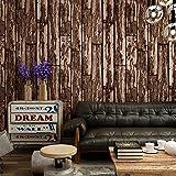 Alger blau Nachahmung Holz Board Hintergrund Tapete-PVC-Schaum Haarverdichtung Kaffee Bar Holzmaserung pepel (de parede Wall Paper coffee