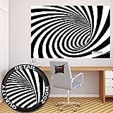 GREAT ART 3D Tunnel schwarz-weiß Wanddekoration - Wandbild Abstrakt Motiv XXL Poster (140 x 100 cm)