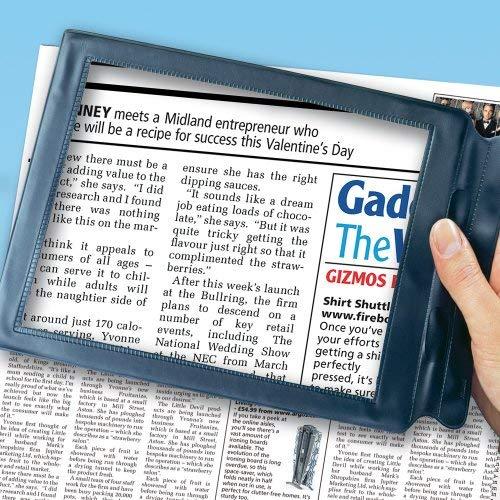 Vergrößerungsglas für Zeitungslesen, rechteckig