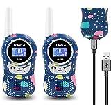 QNIGLO Q168Plus Walkie Talkie Niños Recargable,8 Canales Radio Bidireccional 2Km de Largo Alcance PMR,Equipo de Espía,Mejores