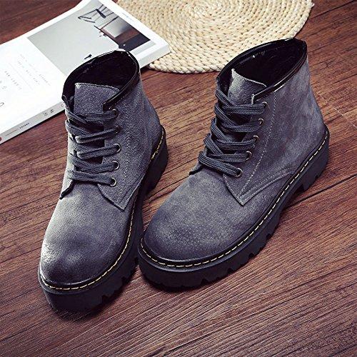 Heart&M Nuova annata indossato cucita stivali stivali per scarpe casuale piatto scrub comode autunno/inverno selvagge c