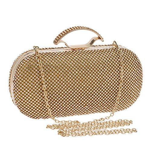 Strawberryer L'Europe Et Les États-Unis Ont Incrusté Les Sacs à Main Pour Femmes Luxury Banquet Dress Wild Evening Bag Embrayage gold