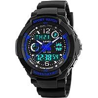 Orologio per bambini, orologio per ragazzi Orologio da polso analogico impermeabile digitale multifunzione sportivo da 6…