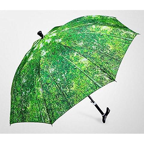 SSBY Para darles el viaje, es necesario, montañismo auto firme palo largo paraguas, sombrillas, ajustable y antideslizante