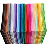 AKD06 Direct 40 Pieces Non-Woven Polyester Cloth DIY Crafts Felt Fabric Home Sewing Accessories (10X10 cm)
