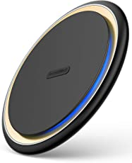 Wireless-Charger, DesertWest Induktions Ladegerät für iPhone Xs/iPhone Xs Max/iPhone Xr/iPhone X/ iPhone 8 Plus/iPhone 8, Qi Ladestation für Samsung Galaxy S9/S9 plus/S8/S8 plus/S7/S7 Edge/S6 Edge Plus/Note 8/Note 5 und alle Qi Fähige Geräte
