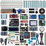 Smraza para Arduino Starter Kit, Completo Conjunto con Tutorial y UNO R3 Placa de Desarrollo, Pantalla LCD1602, Servomotor, Motor Paso a Paso Compatible para Arduino Uno Mega 2560 Nano v3(67 Items)