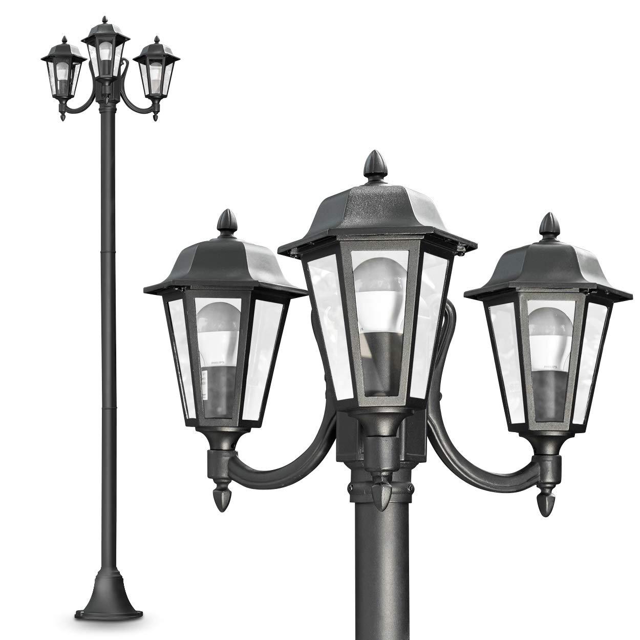Lampione da Esterno Tre Luci- Illuminazione da Giardino Design ...