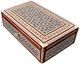 Egyptian Mosaic Jewelry Trinket Box Mother of Pearl BX7 by CraftsOfEgypt