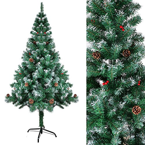 Arbol de navidad nevado artificial jueves lowcost - Arbol de navidad nevado artificial ...
