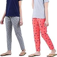 Johny Kingdom Women's Cotton Pyjama Pant   Women's Nightwear   (Pack of 2)
