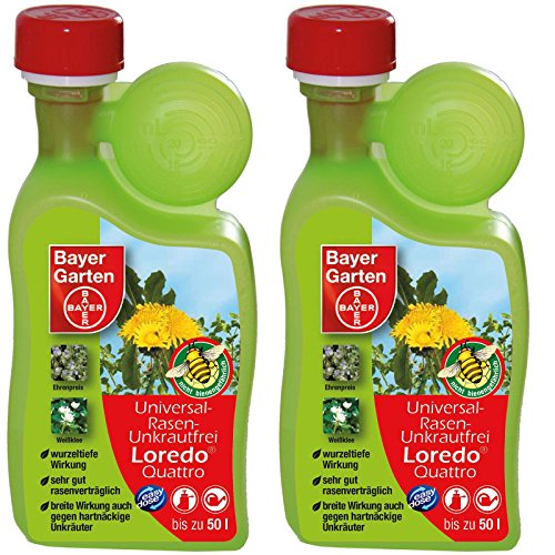 2-x-400-ml-bayer-universel-gazon-mauvaises-herbes-sans-loredo-quattro-herbicide