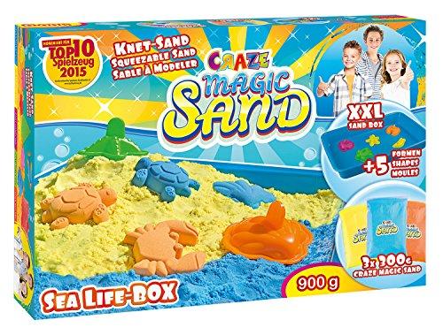 Craze Manía 53011 - Magia de la Arena - Box Sea Life Mundo Marino, Aproximadamente 900 g de Arena, Incluyendo los Accesorios