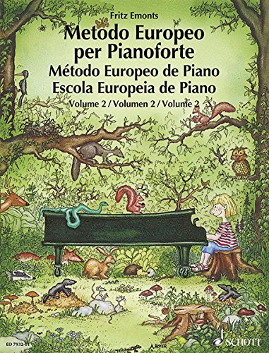 Metodo Europeo Per Pianoforte/ Metodo Europeo De Piano/ Escola Europeia De Piano