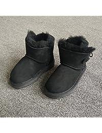 Zapatos Kahn para Niños Modelos de Otoño E Invierno Botas de Nieve para Niñas Y Niños Nieve Algodón,Re,15.5cm