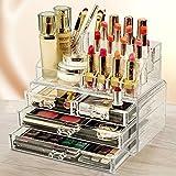 #6: Sunam'S 4 Drawer + 16 Lipstick Holder Multipurpose Large Capacity tabletop Organizer || Acrlyic Displayd || Stylish || Jewelry, Makeup, Toiletries, Nakips etc Storage Box form
