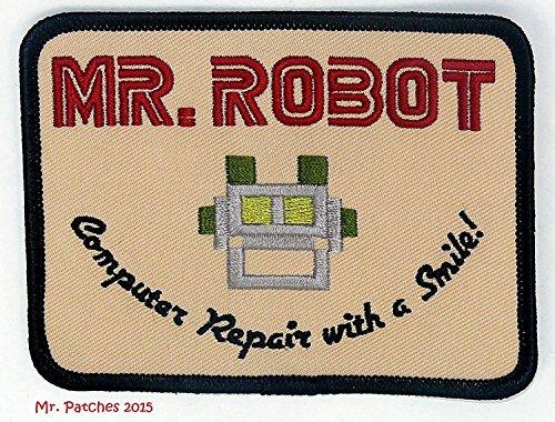 Herr Roboter fsociety TV Show Stickerei Patch