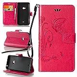 ZeWoo Folio Custodia in PU Pelle - LD105 / rosa romantico - per Nokia Lumia 625 Custodia Protettiva