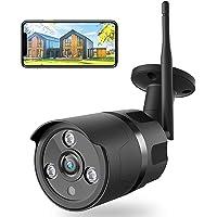 Netvue Telecamera wifi Esterno 1080P, FHD Webcam WIFI Fili Videocamera Sorveglianza Compatibile con Alexa, IP66…