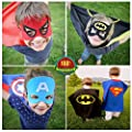 SpiderMarket 7 Cape and Masks Coustumes Hero Dress Up Costumes