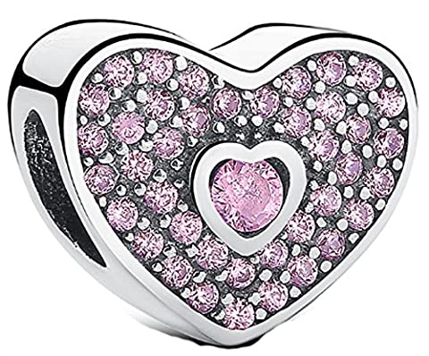 SaySure - 925 Sterling Silver Sweetheart Charm