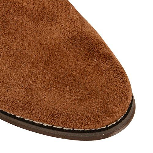 Femme Dolcis Chelsea Cheville Bottes Mesdames Faible Plat Bloc Talon Tirez sur Chaussures Taille peau