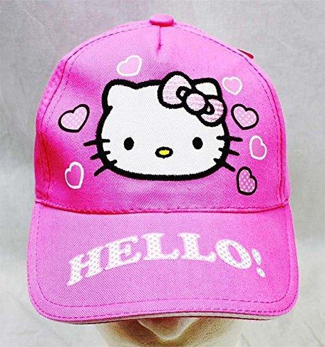 Baseball Cap - Hello Kitty - Pink Heart Pink Hat Kid Girls New HEK3938P by Hello Kitty Hello Kitty Baseball