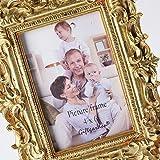 Giftgarden Bilderrahmen 10x15cm Barock golden viereckig golden Geschenke Freunde - 8