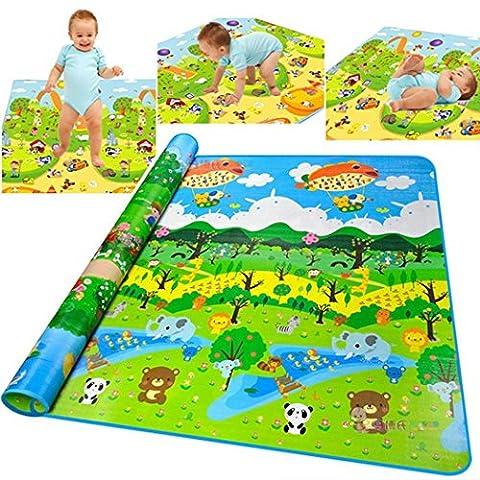 cooshional Tapis de Jeu Pour Bébé-Tapis Épaisseur Rampant Mat Bébé Tapis d?éveil Crawling Pad / Game Mat Forêt Pattern