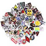 Sticker Pack [100pcs],Sanmatic Sticker Decals Vinyls for Laptop,Cars,Motorcycle,Bicycle,Skateboard Luggage,Bumper Stickers Hippie Decals bomb Waterproof (D)