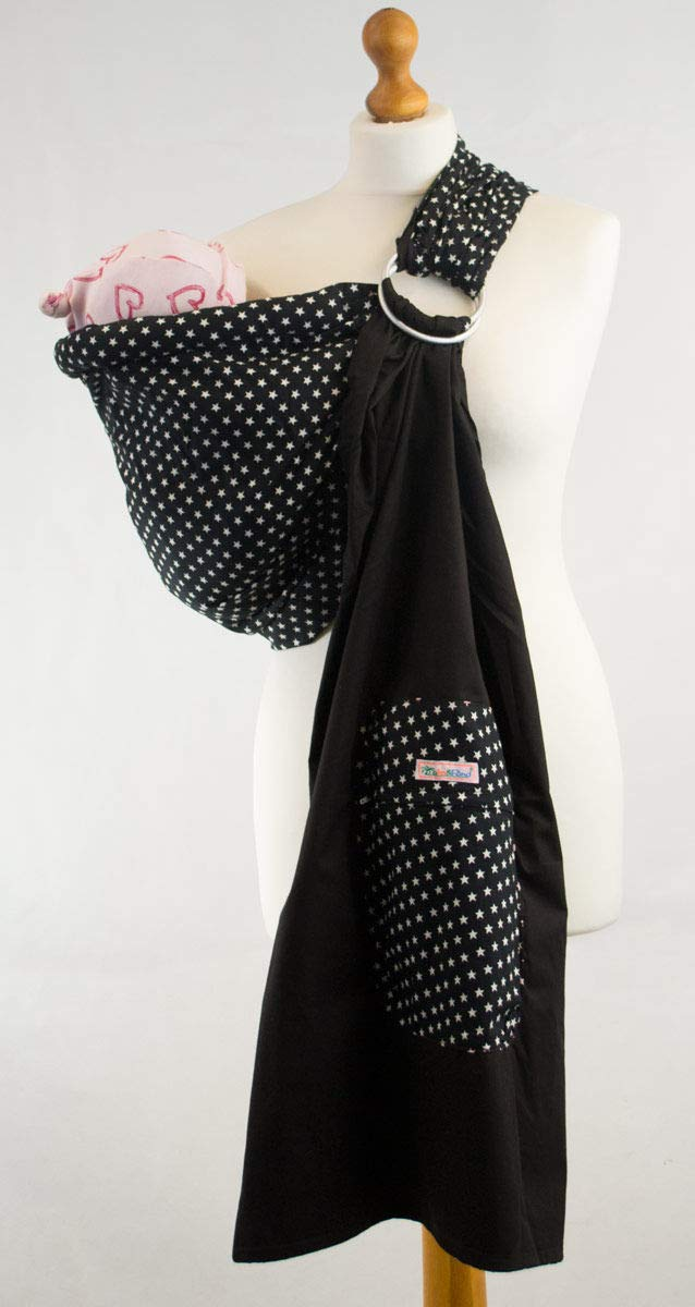 Palm and Pond Ring Sling - Navy with small white stars Palm and Pond  1