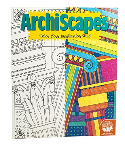 Mind Ware Stained Glass Archiscapes Coloring Book