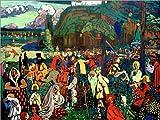 Posterlounge Alu Dibond 130 x 100 cm: Das Bunte Leben von Wassily Kandinsky/akg-Images