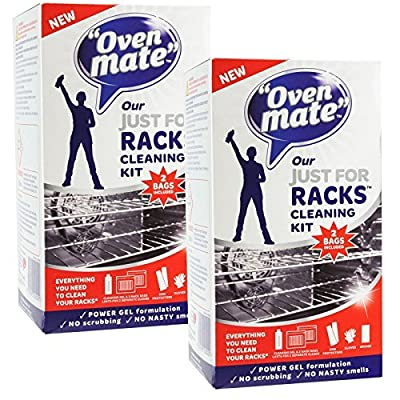 Oven Mate Just For Racks Cleaning Gel Kit For Oven Shelves & BBQ Grills (Pack of 2) produced by Oven Mate - quick delivery from UK.