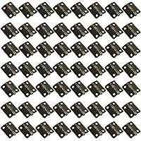 HSeaMall 50 STÜCKE Antike Bronze Mini Folding Butt Scharniere Wohnmöbel Schrank Hardware Tür Schublade Schrank Scharnier mit 200 STÜCKE Schrauben